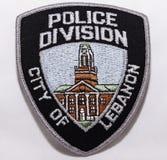 Naramienna łata Liban departament policji w Pennsylwania obrazy stock