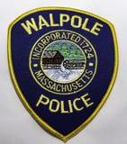 Naramienna łata Walpole departament policji w Massachusetts zdjęcie stock