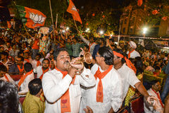 Narandra在的Modi Vijayutsav集会发表演说 免版税库存照片