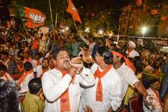 Narandra Modi addressing Vijayutsav rally Royalty Free Stock Photo