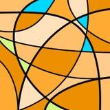 Naranja abstracta de las ilustraciones Foto de archivo libre de regalías