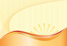 Naranja abstracta del fondo Stock de ilustración
