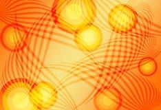 Naranja abstracta del fondo Foto de archivo