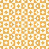 Naranja abstracta del modelo del cuadrado del círculo Imágenes de archivo libres de regalías