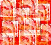 Naranja abstracta y blanco del papel pintado Fotos de archivo