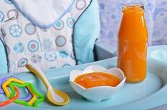 Naranja brillante del puré Foto de archivo