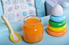 Naranja brillante del puré Foto de archivo libre de regalías