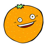 naranja cómica feliz de la historieta Fotografía de archivo