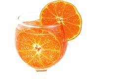 Naranja colorida con las burbujas de aire Imagen de archivo