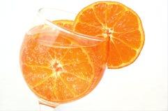 Naranja colorida con las burbujas de aire Fotos de archivo