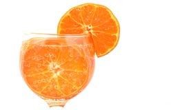 Naranja colorida con las burbujas de aire Fotografía de archivo libre de regalías