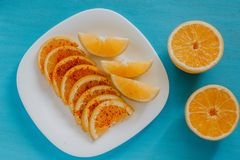 Free Naranja Con Chile, Orange Fruit With Chili, Mexican Spicy Food In Mexico City Royalty Free Stock Photos - 119462038