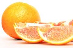 Naranja con el fondo blanco Foto de archivo libre de regalías