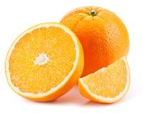 Naranja con la rebanada. Imagen de archivo