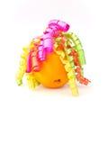 Naranja con los enrollamientos Fotos de archivo