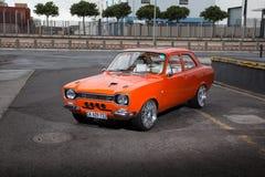 Naranja de Ford Escort Mki modificada fotos de archivo