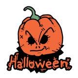 Naranja de Halloween de la cara Imagenes de archivo