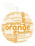 naranja de la carta stock de ilustración