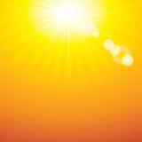 Naranja de la flama de Sun stock de ilustración