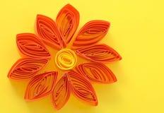 Naranja de la flor de la tarjeta de felicitación Fotos de archivo