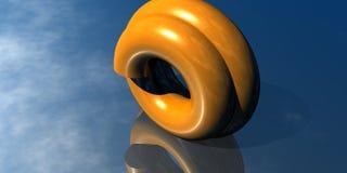 naranja de la insignia 3D Fotografía de archivo libre de regalías