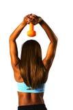 Naranja de la prensa de Tricep Imagenes de archivo