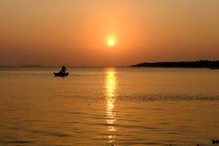 Naranja de la puesta del sol Foto de archivo libre de regalías