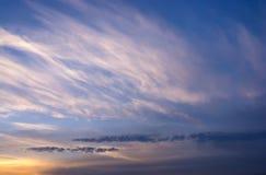 Naranja de la puesta del sol de la opinión del cielo Foto de archivo
