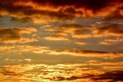 Naranja de la puesta del sol de la opinión del cielo Fotos de archivo