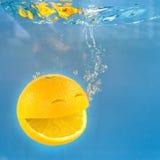 Naranja de la sonrisa imagen de archivo