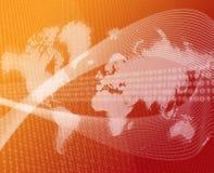 Naranja de la transferencia de datos del mundo ilustración del vector