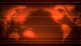 Naranja de la voluta de los continentes del mapa del mundo ilustración del vector