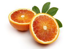Naranja de media sangre dos Imagenes de archivo