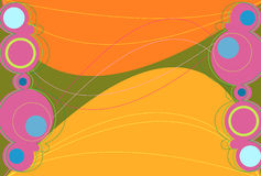 Naranja de Retronation Imagen de archivo libre de regalías