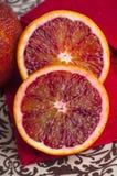 Naranja de sangre cortada fresca imágenes de archivo libres de regalías