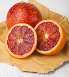 Naranja de sangre tropical cortada foto de archivo libre de regalías