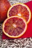 Naranja de sangre tropical fresca imagenes de archivo