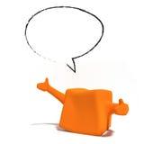 naranja del carácter 3d con el espacio en blanco claro Imágenes de archivo libres de regalías