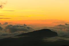 Naranja del cielo Imágenes de archivo libres de regalías