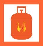 Naranja del diseño del cilindro de gas Fotos de archivo libres de regalías