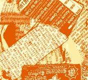 Naranja del grunge del periódico Fotografía de archivo