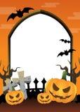 Naranja del marco de Halloween Imágenes de archivo libres de regalías