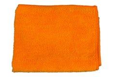 Naranja del paño de la microfibra, Imagen de archivo libre de regalías