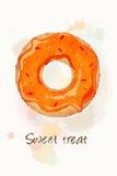 Naranja dulce de la invitación Foto de archivo libre de regalías