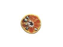 Naranja en blanco aislada imagen de archivo