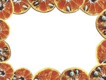 Naranja en blanco aislada imagen de archivo libre de regalías
