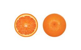 Naranja en corte Imágenes de archivo libres de regalías
