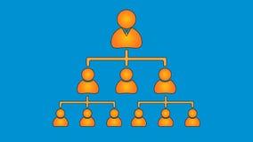 Naranja en el azul, carta de estructura de organización libre illustration