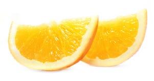 Naranja en el fondo blanco Imágenes de archivo libres de regalías