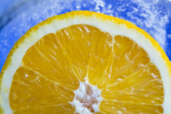 Naranja en el hielo p4 Foto de archivo